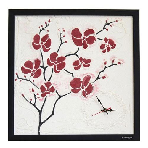 """Картина из цветного песка с часами """"Орхидея"""" Изюм студия"""